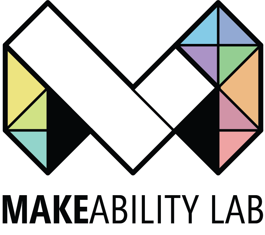 The Makeability Lab logo which is a large geometric M with an embedded L